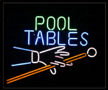 Pool Tables Neon Sign 1